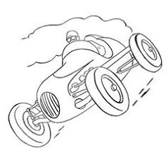 Old Race Car Coloring Page