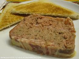 chicken liver pate terrine in the kitchen