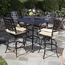 wicker bar height patio set hton bay rehoboth 3 wicker outdoor bar height dining set