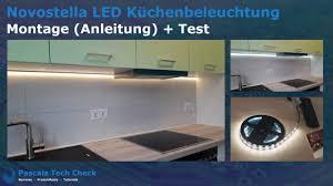 novostella led küchenbeleuchtung montage einbau anleitung und test