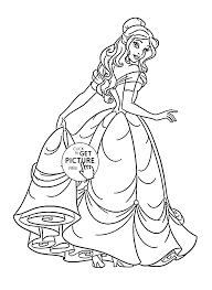 Disney Princess Belle Coloring Page For Kids