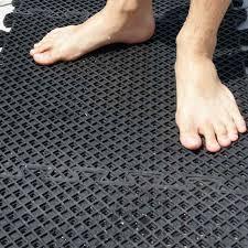 eco drain interlocking rubber tile