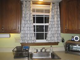 Kitchen Curtain Ideas Pictures by Kitchen Bay Window Curtain Ideas Dining Table The Middle Room