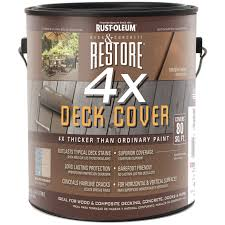 Rust Oleum Decorative Concrete Coating Applicator by Rust Oleum 1 Gallon Restore 4x Deck Cover 41100 Specialty