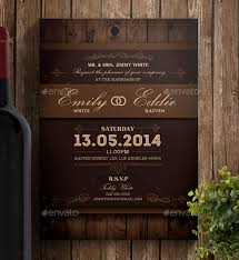 Rustic Wedding Invitation PSD Format Template Download