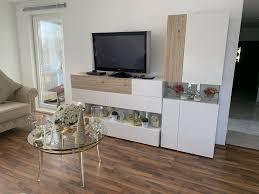 wohnwand und kommode weis gold beige barock acryl wohnzimmer ital