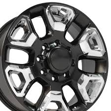 100 8 Lug Truck Wheels CP 20 Wheel Rim Fits Dodge RAM X165 Satin Blk WChrome
