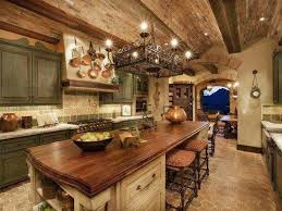 Tuscan Style Kitchen With Brick Ceiling Design