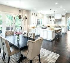 Open Kitchen Dining Room Floor Plans Plan Living