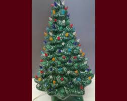 Clear Bulbs For Ceramic Christmas Tree by Ceramic Christmas Etsy
