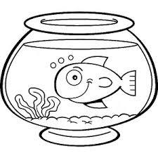Fish Bowl Coloring Pages Sheet
