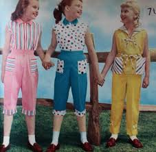 1950s Play Clothes Girls Capri Blouse Sets