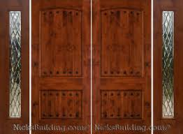 Rustic Knotty Alder Doors Over 100 Choices Double With Sidelights