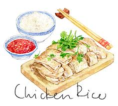 Chicken Rice by Tuan Nini foodillustration asianfood watercolor