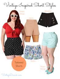Vintage Inspired Shorts Culottes Capris