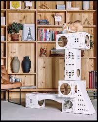 maison de jeu blocks pour chat poopy cat le de moon