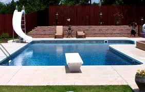 Inground Pools With Diving Board And Slide Home Complete Pool Spas