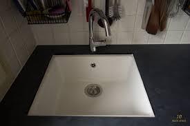 undermount single bowl ikea domsjö sink for a vintage kitchen