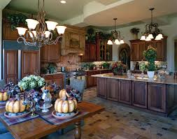 The Tuscan Kitchen Design Is Basically Inspired By Italian Forms And Designs A Lot Many Stone Counters Rough Textured Ceramic Tiles Wooden Furniture