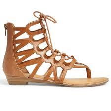 rampage women u0027s salina 2 gladiator sandals cognac bob u0027s stores