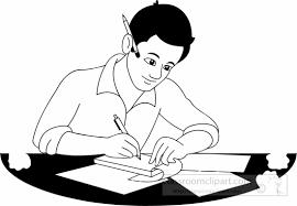 School Clipart black white writer clipart Classroom Clipart