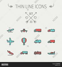 Transportation Thin Vector & Photo (Free Trial) | Bigstock