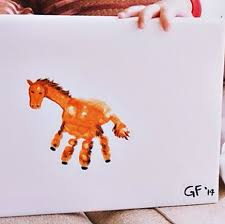 Handprint Horse Craft For Kids