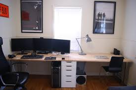 Linnmon Alex Desk Black by Finally Built The Desk I U0027ve Always Wanted For My Gf And I Parts