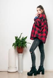 90s Vintage Grunge Flannel Jacket
