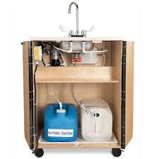 jonti craft portable sink hot water birch wood single plastic