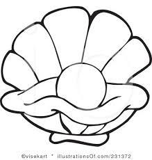 Seashell Clipart Black And White