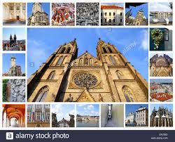 Travel Collage Of Prague Capital Czech Republic