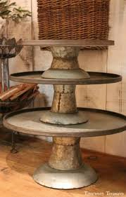 Rustic Metal Stands Available In 3 Different Sizes They Are Stacked This Photo