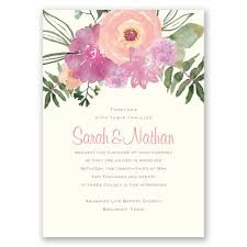 Layers Of Brilliantly Colored Flowers Multiply The Beauty This Two Sided Wedding Invitation Create Fabulous In Your Davids Bridal