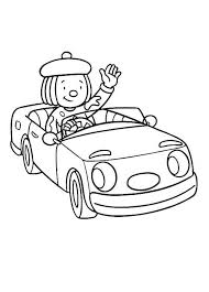 Jojo Ride A Car Around The Circus Town In Jojos Coloring Page
