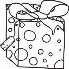 Christmas Gift Coloring Sheet Preview