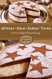 winter käse sahne torte mit birnen
