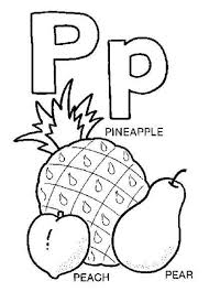 P Words Coloring Pages
