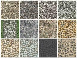 INDOOR OUTDOOR PAVING TEXTURES RIVER STONE TILES