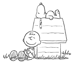 Free Coloring Page Of Snoopy On His House