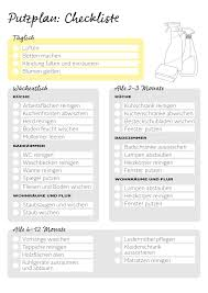 putzplan checkliste für eine saubere wohnung otto