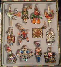 Ebay Christmas Trees With Lights by Jim Shore Twelve Days Of Christmas Ornaments Set Of 12 Retired
