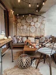 lounge set zertifiziertes holz braun timor boho chic