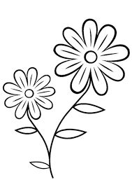 Coloring Pages Free Flower Colouring Page