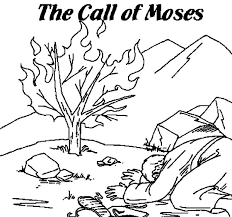 Bible Coloring Pages Moses Burning Bush And The