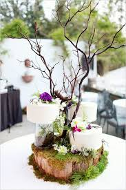 Rustic Woodland Moss Wedding Cake