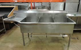 industrial sink unit commercial stainless steel 3 compartment sink