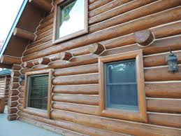 Log home in Colorado after staining with Capture Log Stain in