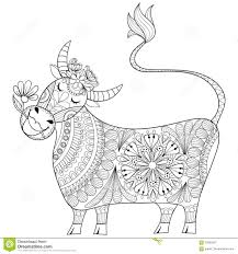 Royalty Free Vector Download Coloring Page With Cow