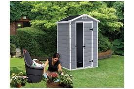 Keter Manor 4x6 Storage Shed keter manor resin booth 4x3 128x94x196cm u2014 garden jardinitis